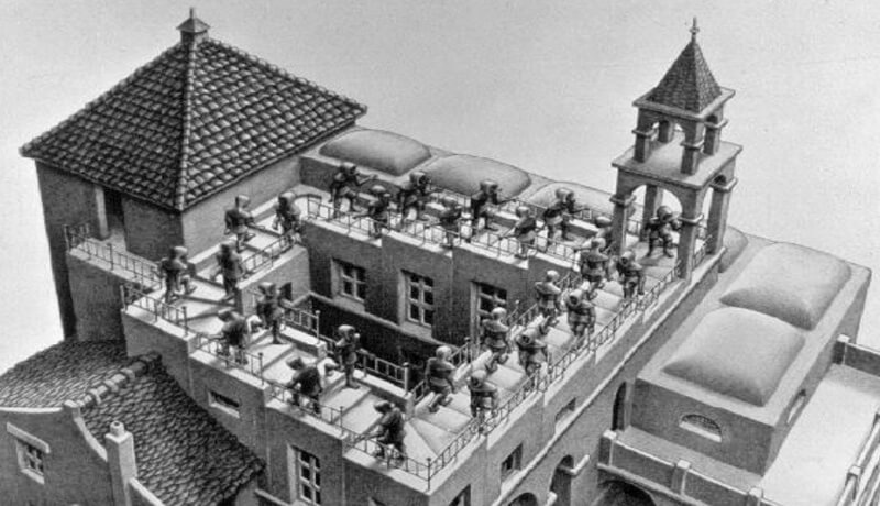 Rekursion: M.C Escher
