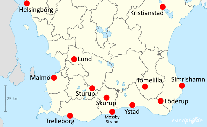 Südschweden rund um Ystad